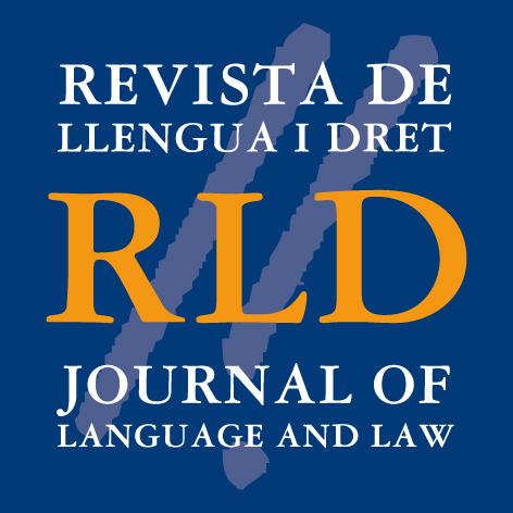 Logotip Revista Llengua i Dret