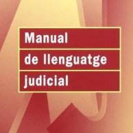 Portada Manual de llenguatge judicial