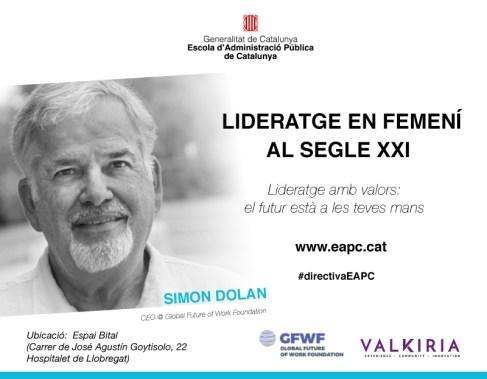 """Cartell de la jornada """"Lideratge en femení al segle XXI"""""""