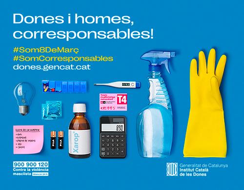Cartell de la campanya d'enguany de l'ICD: Dones i homes corresponsables!
