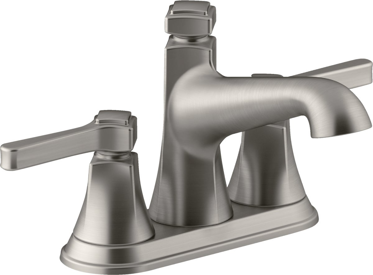 kohler georgeson 2 handle 4 in centerset bathroom faucet with pop up