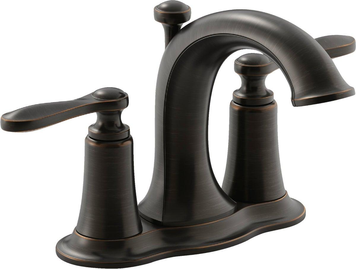 kohler linwood 2 handle 4 in centerset bathroom faucet with pop up