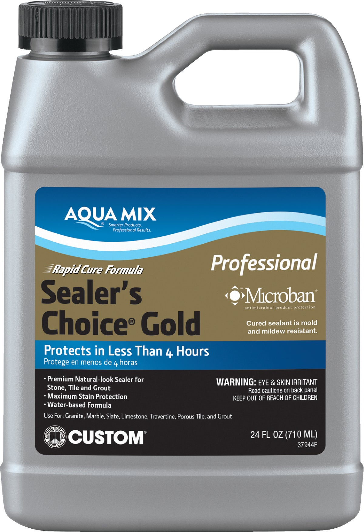 custom building products aqua mix sealer s choice gold grout tile sealer 24 oz