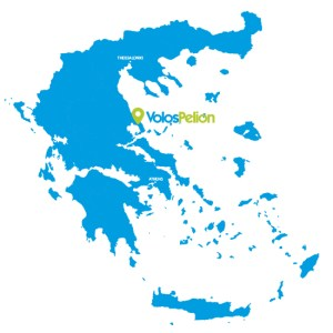 Volos Pelion Tour map