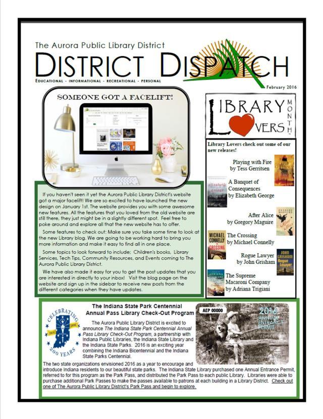 February newsletter #1