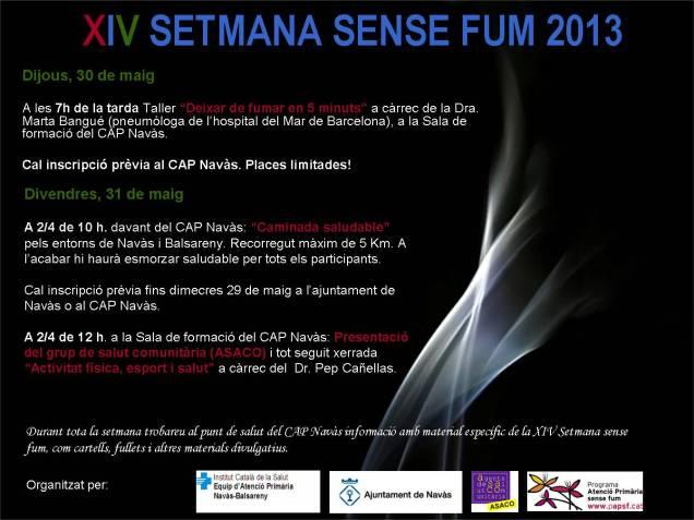 XIV SETMANA SENSE FUM 2013