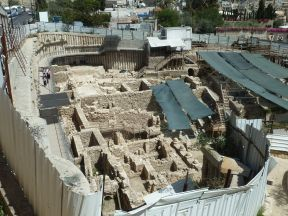 The excavations at the City of David are often done clumsily and some ancient Islamic remains have been carelessly destroyed. Photo EAPPI/L. Sharpe.