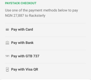 Racksterly Paystack Payment