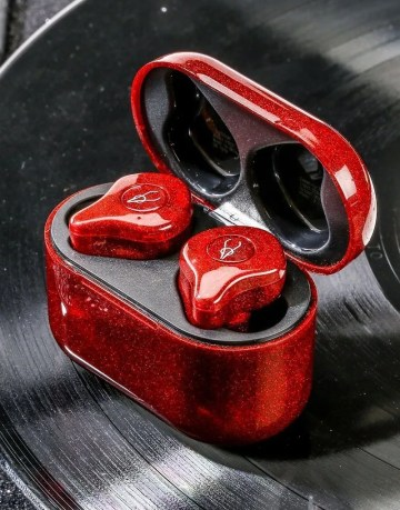 True Wireless Headphones Earphones Sabbat E12 NeoN Red 2