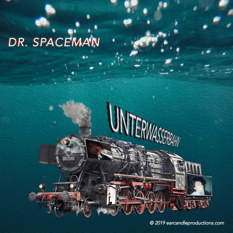 UNTERWASSERBAHN cover artwork by Debra Nicholson Bassham, for DR. SPACEMAN.UNTERWASSERBAHN cover artwork by Debra Nicholson Bassham, for DR. SPACEMAN.