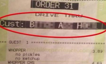 burger king reciept