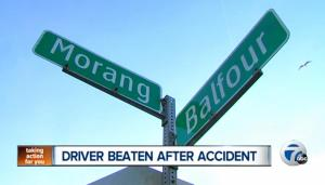 driver beaten after accident