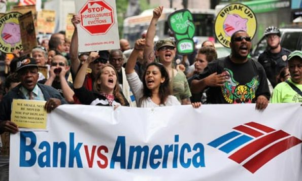 Protesters at Bank of America shareholders meeting in Charlotte