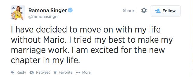 Ramona Singer Tweet