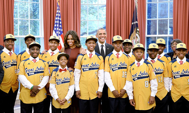 President Barack Obama Gives Warm Welcome To Little League Champs Jackie Robinson West To The White House
