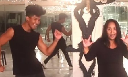 Aweee Moment!!! Deaf Mom and Her Son Seriously Smash Usher's Dance Routine