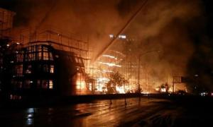 Massive Fire Downtown L.A. Burns Apartment Complex & 2 Other Buildings Damaged, 250 Firefighters Battling Blaze
