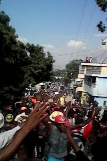 BREAKING NEWS- United Nations Peacekeeper Soldiers Fire on Protestors in Haiti
