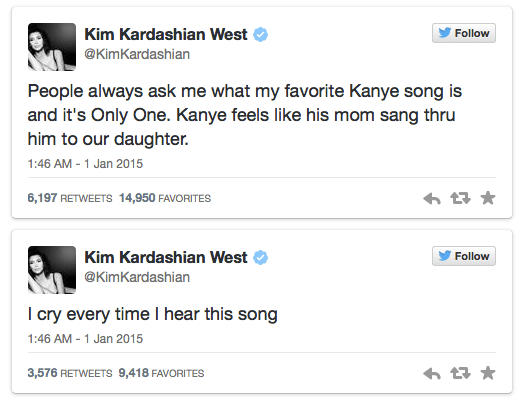 kardashian tweets