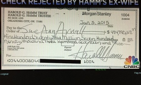 Harold Hamm Offers $975MILLION Divorce Check; Ex-Wife Rejects It, She Wants More Of The 18 Billion Dollar Fortune