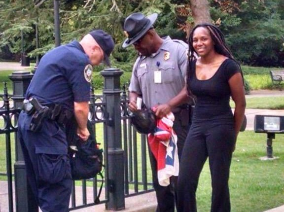 """Talk About Bold:  African American Woman """"Bree Newsome"""" Climbed  The Capital Building In S. Carolina & Removed Confederate Flag"""