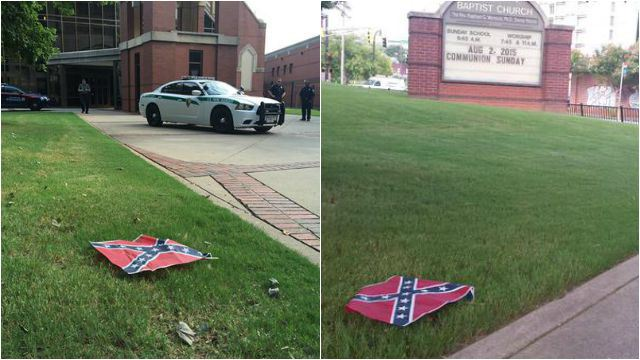Atlanta:  Confederate Flags Placed At Martin Luther King Center
