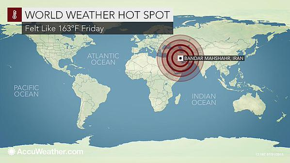 Who Say's It's Hot Outside? Heat Index In Iran Hits An Astonishing 163 Degrees