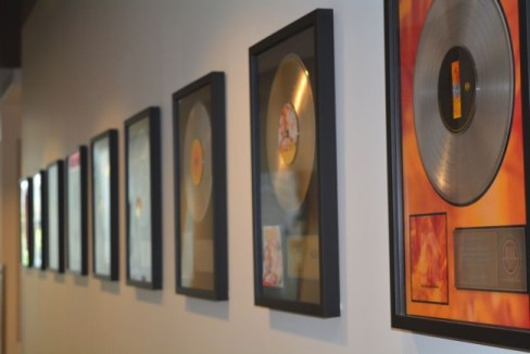 records on wall 1