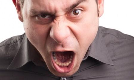 white man yelling