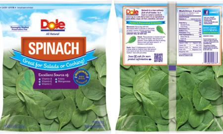 dole spinach recall