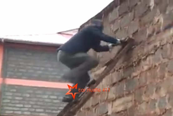 Nigerian Pastor Allegedly Rips Of Congregation and His Flock Snaps Chasing Him To The Roof Of The Church [VIDEO]