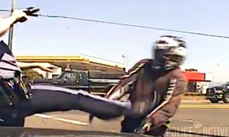 Oregon Motorcyclist Deliberately Ran Off Road By Cop & Then Kicked Wins $180K Settlement For Excessive Force