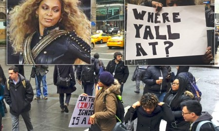 The Anti-Beyonce Protest At NFL Headquarters Was A Joke, All You Heard Was Crickets; Epic Fail!!!