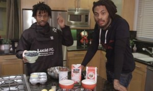 Watch Rapper Waka Flocka and Singer-Songwriter Raury Make Vegan Blueberry Muffins