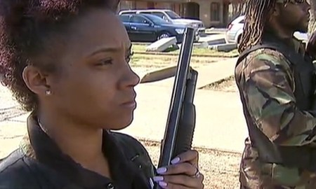 Armed White Hate Group Met By Nation Of Islam & Armed Black Panthers At Mosque