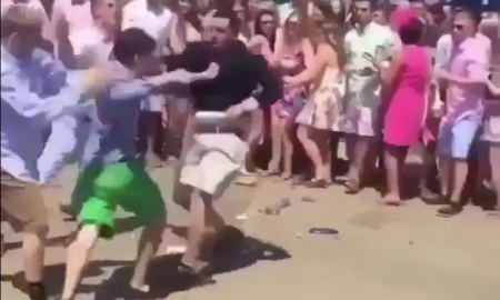 fight at the kentucky derby