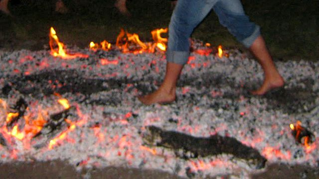 walking on hot coals