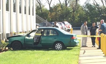 Chicago: Student Driver Lost Control Of Vehicle & Crashes Into The Secretary Of State Building