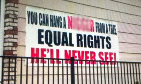 African-American Homeowner Hangs Controversial Sign On His Home Prompting Outrage