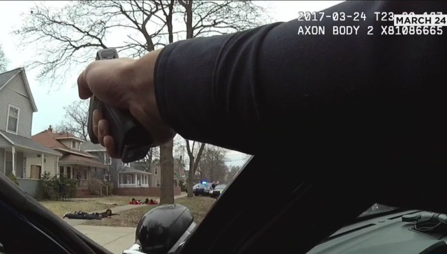 Cop Points Gun At Innocent Unarmed Black Children As They Lay On The Ground Crying In Fear In Mistaken Identity