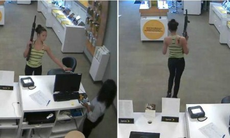 Woman Robbed Cell Phone Store With Large Military Gun Because They Didn't Have The Phone She Ordered