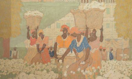 African Americans In Chicago Feel Offended and Disturbed By Mural With Slaves Picking Cotton At Merchandise Mart