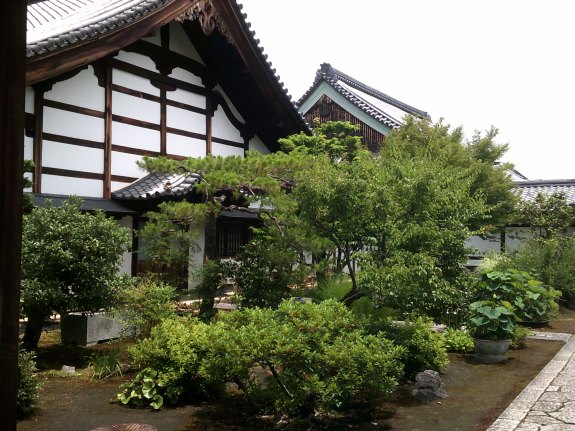 Zen gardens before Temples at Myoshin-Ji