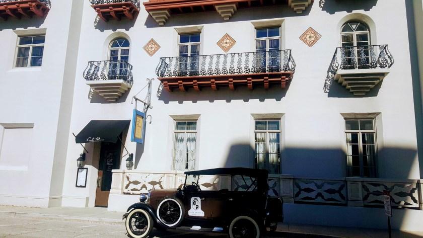 Cuban Style Spanish Villa with an Old Motor Car