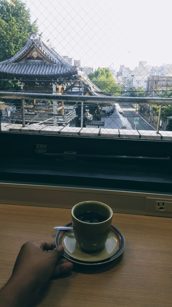 Tea with Temple view, Kyoto