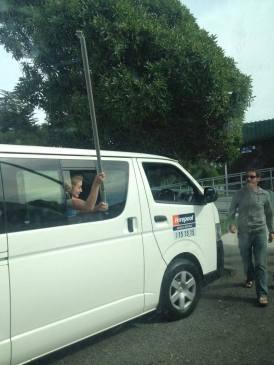 Gylnnis dismantles part of our van