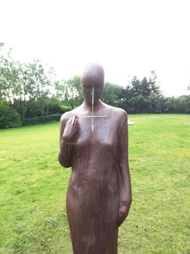 Skulptur Landakotskirkja Reykjavik