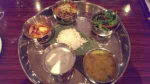 Seafood thali