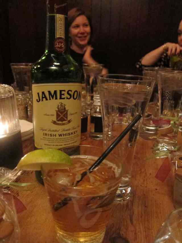 Jameson, ginger ale and lime - a perfect cocktail