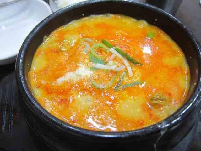 haemul soondubu (seafood tofu)